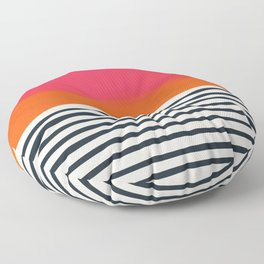 Sunset Ripples Floor Pillow