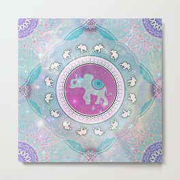 MAGIC HAPPY ELEPHANT Metal Print