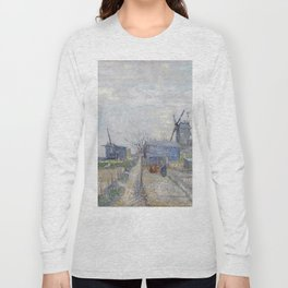 Montmartre - Windmills and Allotments by Vincent van Gogh Long Sleeve T-shirt