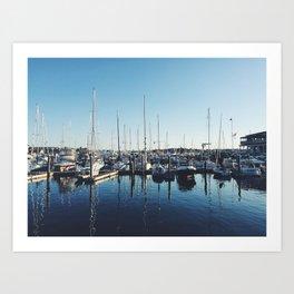 Newport, Rhode Island boats Art Print