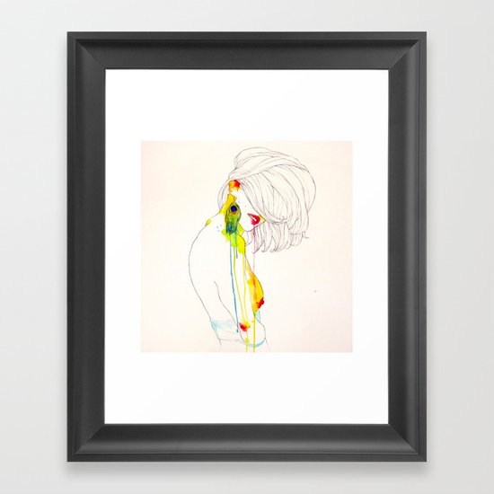 PAVO REAL Framed Art Print