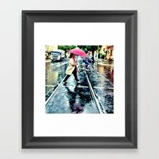 Rain I Framed Art Print