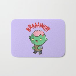 Zombie Kawaii | BRAAAINS!!!! BRAINS!! Halloween Bath Mat