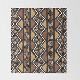 African mud cloth Mali Throw Blanket