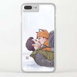 Winter Smooches Clear iPhone Case