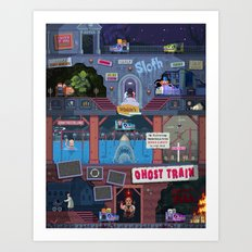 Jump Scares Ghost Train... Art Print