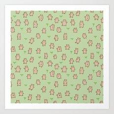 Tiny Bears Pattern Art Print