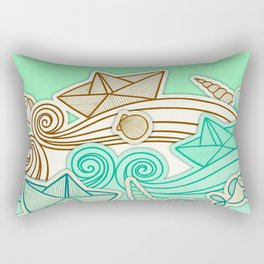 Imagine sea Rectangular Pillow
