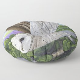 Barn Owl Floor Pillow