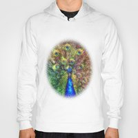 peacock Hoodies featuring peacock by Ancello