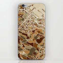 Cape Town South Africa City Street Map iPhone Skin