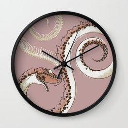 Mauve Serpent Wall Clock