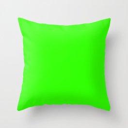 Chroma Key Green Throw Pillow