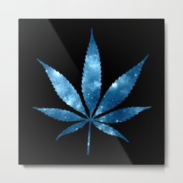 Weed : High Times blue Galaxy Metal Print