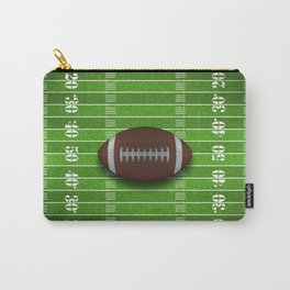 Football Field with Yard Lines and Football Carry-All Pouch