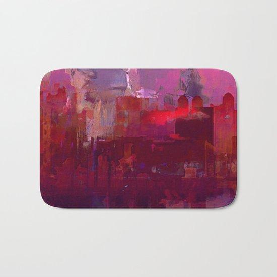 Red city Bath Mat