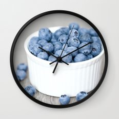 Blueberries Wall Clock