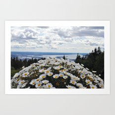 Nature Flowers Landscape Art Print