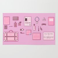 budapest hotel Area & Throw Rugs featuring Grand Budapest Items by M. Gulin