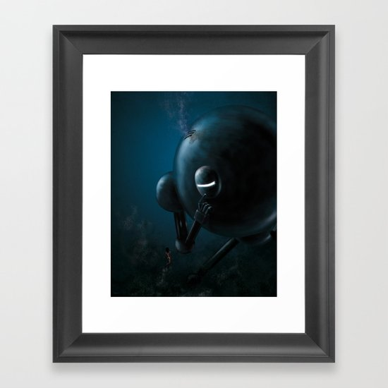 Smooth robot Framed Art Print