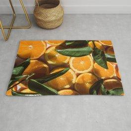 Orange Fruit Pattern Photography Rug