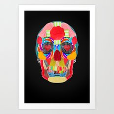 Sweet Sweet Sugar Skull On Black Art Print