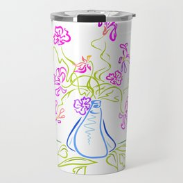 Bouquet of abstract flowers Travel Mug