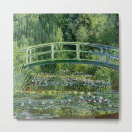 Water Lilies and the Japanese bridge - Claude Monet Metal Print