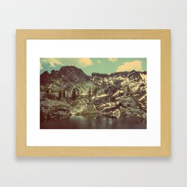 high sierras  Framed Art Print