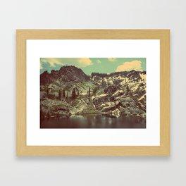 high sierras  Framed Art Print