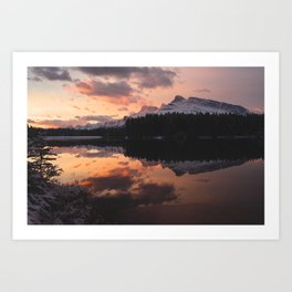 Mount Rundle Art Print