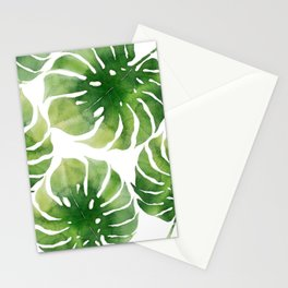 Monstera watercolor I Stationery Cards