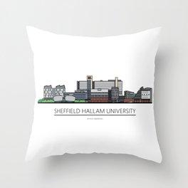Sheffield Icons - Sheffield Hallam University Throw Pillow