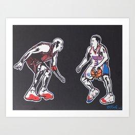 MJ vs. AI Art Print