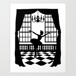 Swan Lake: Odile the Black Swan Art Print