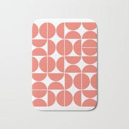 Mid Century Modern Geometric 04 Living Coral Bath Mat