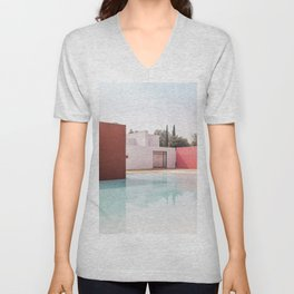 Silent Poetry Between Sky and Water Unisex V-Neck