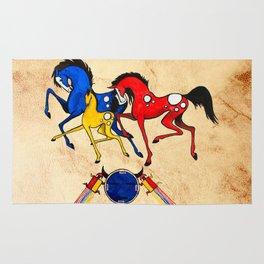 Navajo Horse Family Rug