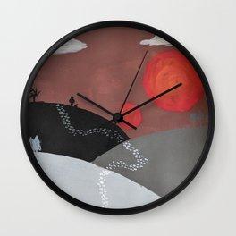 The Traveled Path Wall Clock