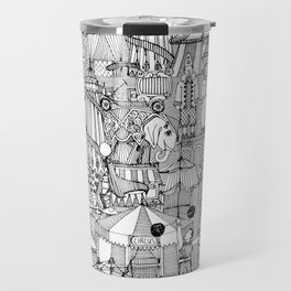 retro circus black white Travel Mug
