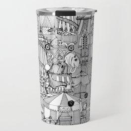 retro circus black white Travel Mug