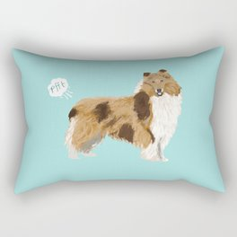 rough collie funny farting dog breed pure breed pet gifts Rectangular Pillow