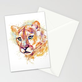 Cougar Head Stationery Cards