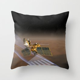 965. Mars Climate Sounder Artist Concept Throw Pillow