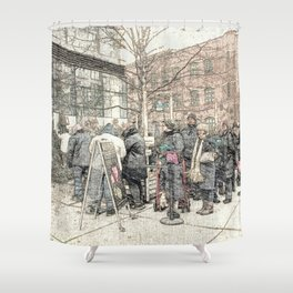 Christmas Trees in the City DPGPA151025c Shower Curtain
