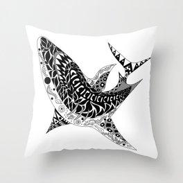 Mr Shark ecopop Throw Pillow