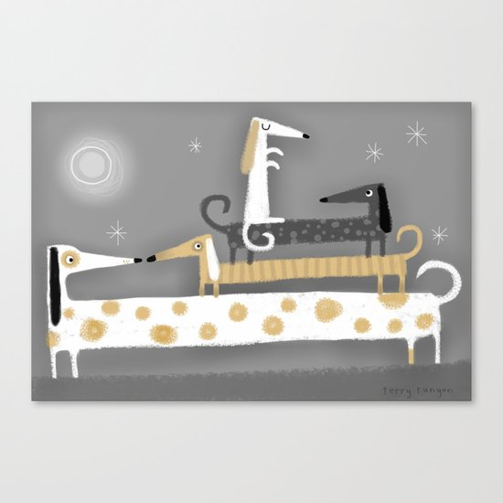 WIENER STACK Canvas Print