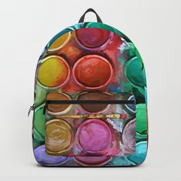 watercolor palette Digital painting Backpack