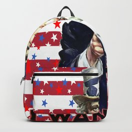 Uncle Sam I Want You With Stars and Stripes Background Backpack