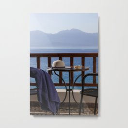 Time For Vacations By The Sea Metal Print